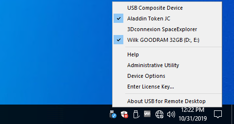 USB for Remote Desktop